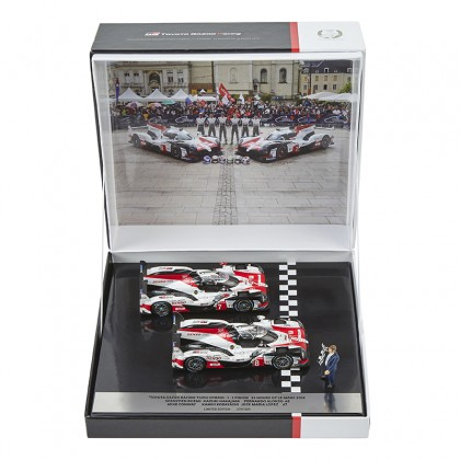 TOYOTA HYBRID TS050 No. 8 & 7 Le Mans Winning Joint Model Cars Set 1:43 Limited Edition